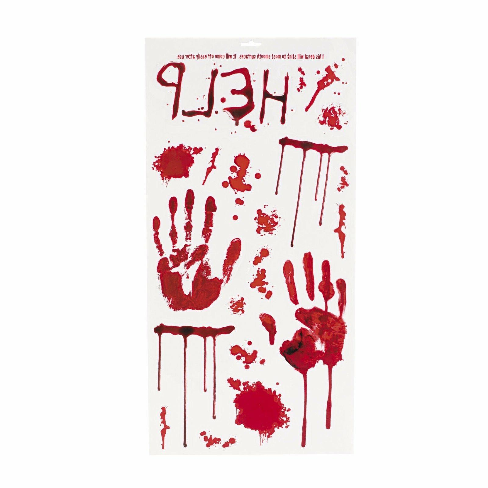 20 bloody wall decals hanging decorations zombie