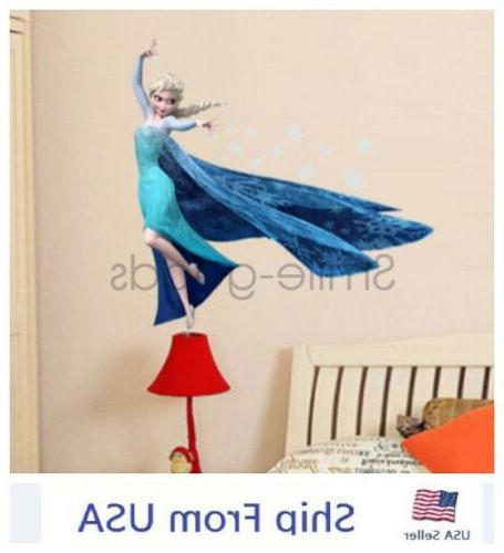Frozen Decals Stickers Removable Room Nursery Decoration