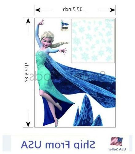 Frozen Inspired Decals Stickers Removable Room Nursery Decoration
