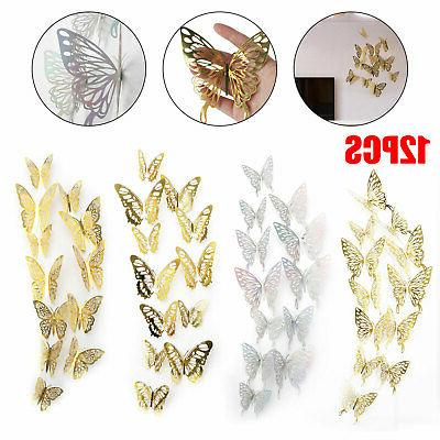 24 12 pcs butterfly 3d wall stickers