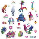 24 New TROLLS MOVIE Glitter WALL DECALS Poppy Branch Sticker