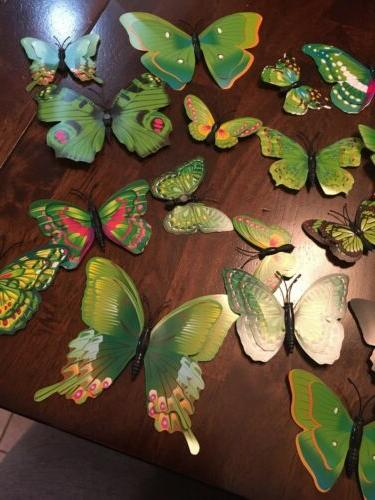 24Pcs 3D Butterfly Stickers Decals Room US