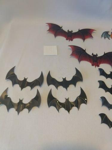 Amaonm 24pcs DIY Bat Decor Stickers Halloween