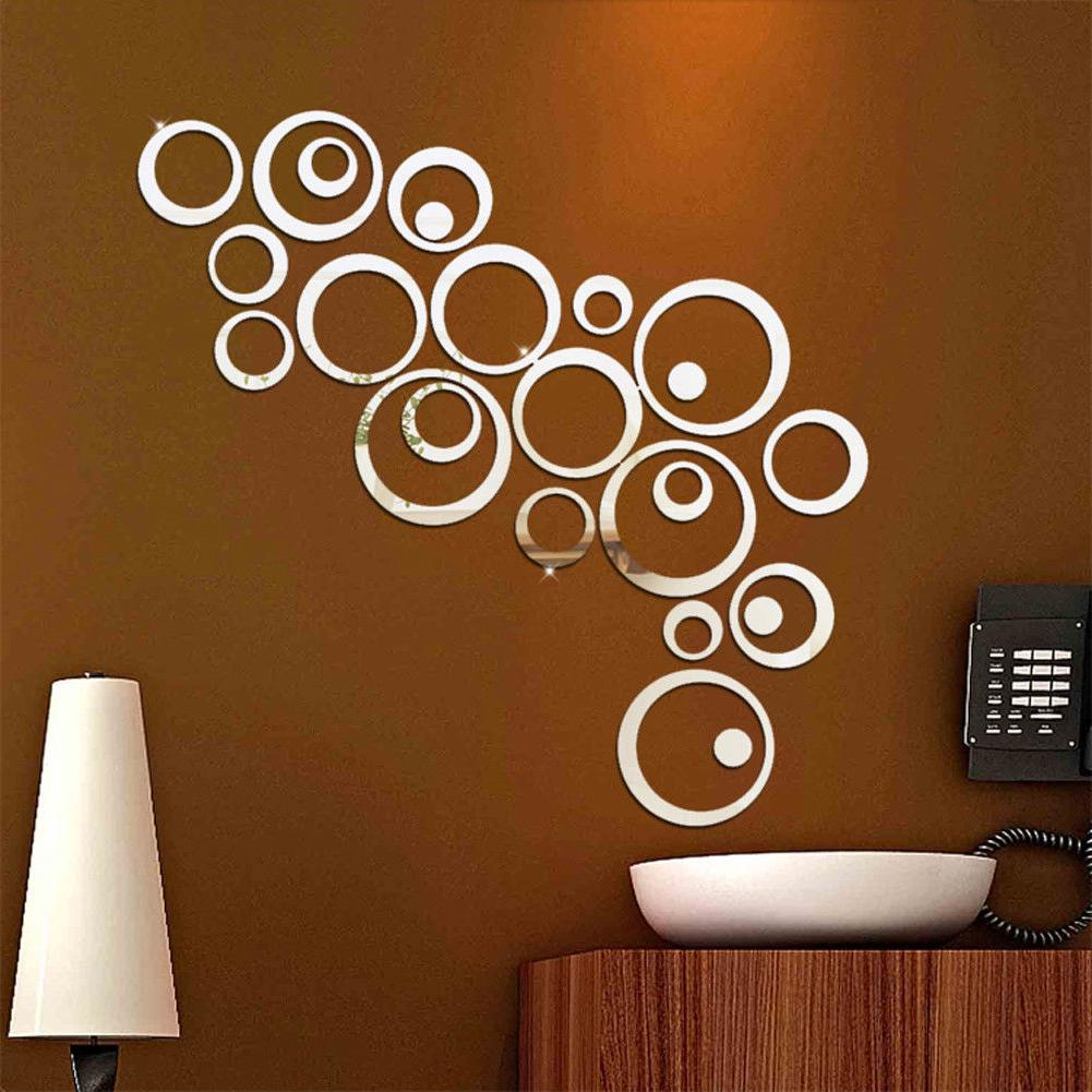 24pcs 3D Wall Vinyl Mural Home Removable