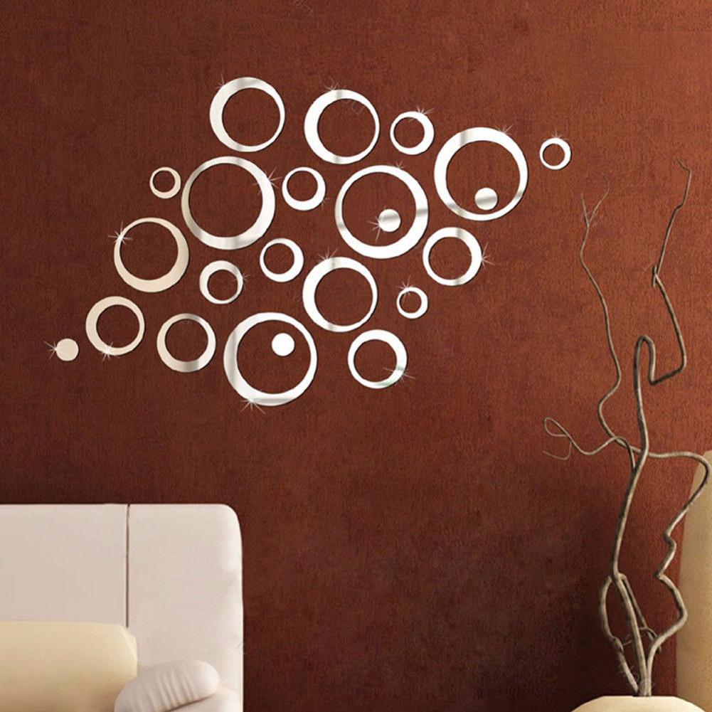 24pcs 3D Wall Sticker Vinyl Mural Home Removable