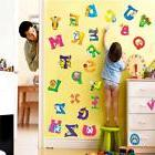 26 alphabet and animal removable wall glass