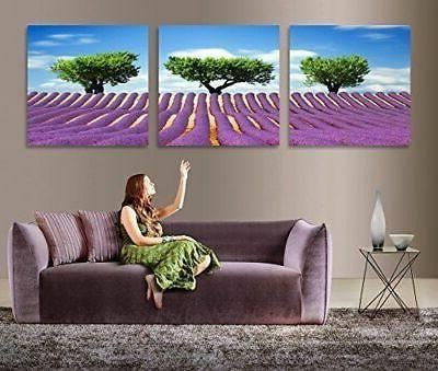 3 pieces large tree modern abstract art