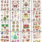 3 Sheets Christmas Sticker Removable Glass Wall Display Deca