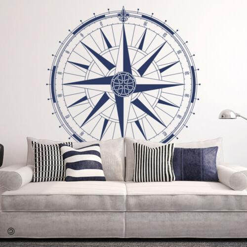 360 Celtic Compass Rose Vinyl Wall or Ceiling Decal -fits fa