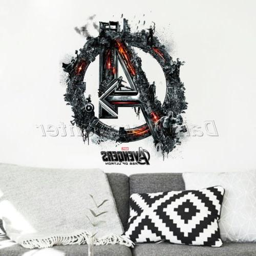 3D A The Avenger Captain America Wall Sticker DIY Decal for