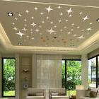 3D Charm Stars Mirror Wall Sticker Bling Effect Home Room De