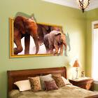 3d elephant removable art vinyl wall sticker