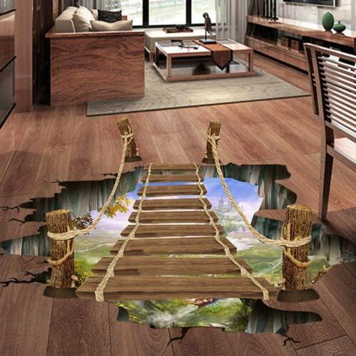 3D Floor/Wall Sticker Removable Bridge Mural Decals Vinyl Ar