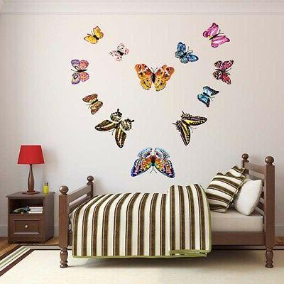 3D Glow in The Dark Butterfly Wall Ceiling Decals Mural-Stic