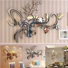 3D Mirror Flower Art Removable Wall Sticker Acrylic Mural De