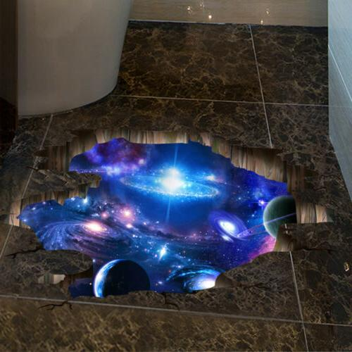 3D Outer Space Wall Stickers Home Decor Mural Art Removable