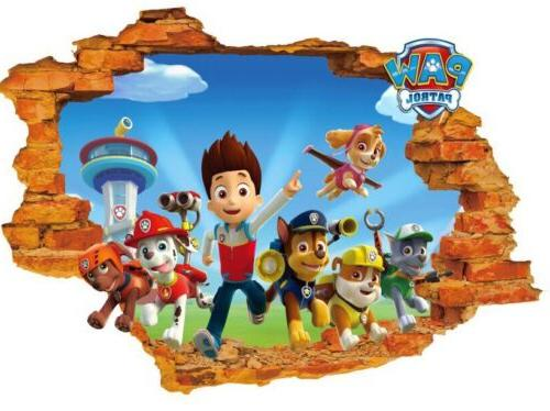 3d paw patrol pups breaking through wall
