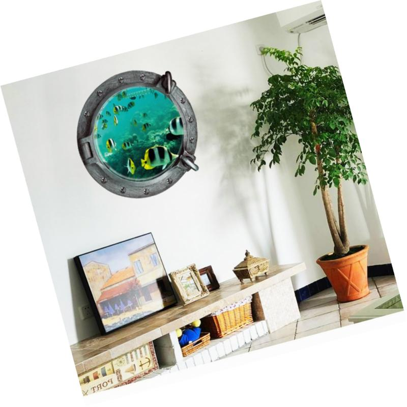 Boodecal 3d Porthole View Undersea Peel Stick