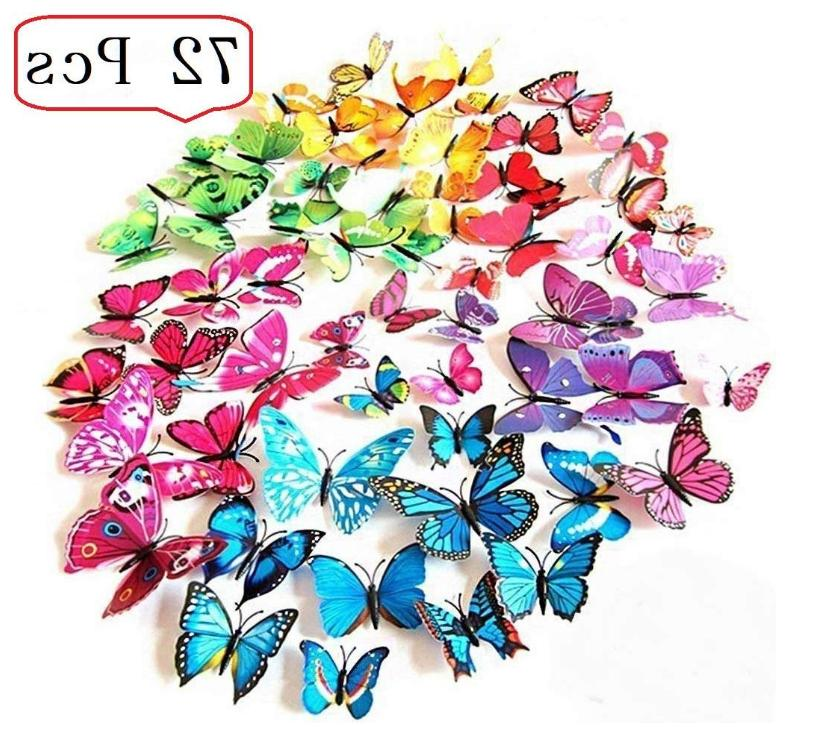 3d removable butterfly vinyl wall
