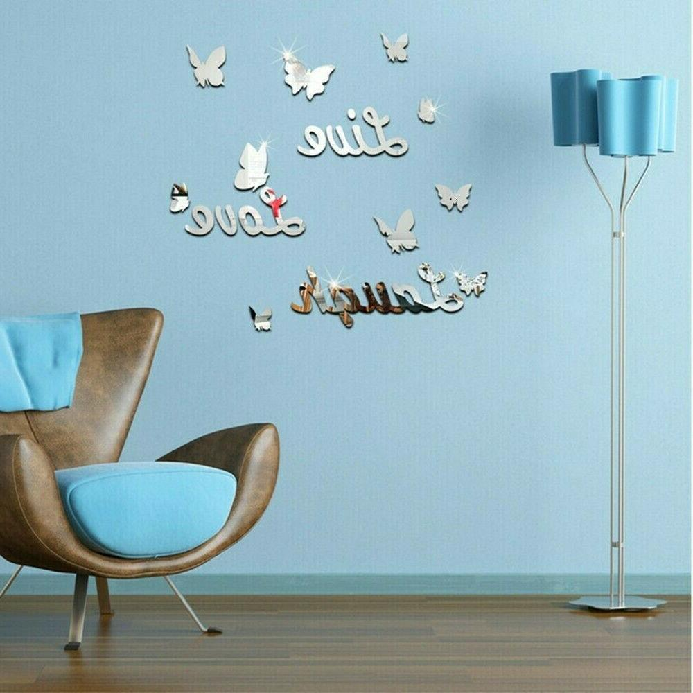 3D Removable Mirror Sticker Decals Romantic