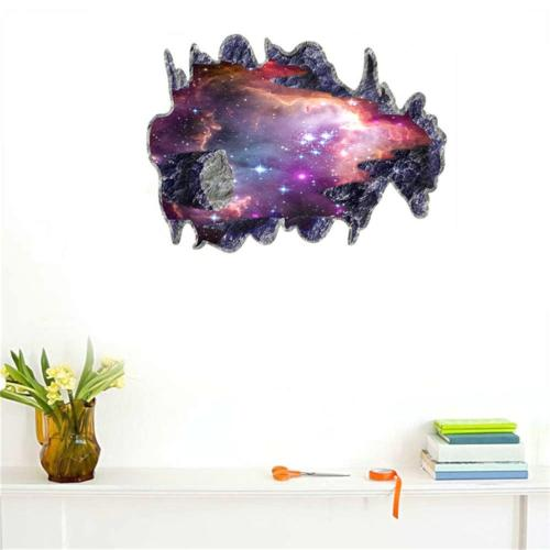 BIBITIME Space Meteorite Wall Decal Stickers for