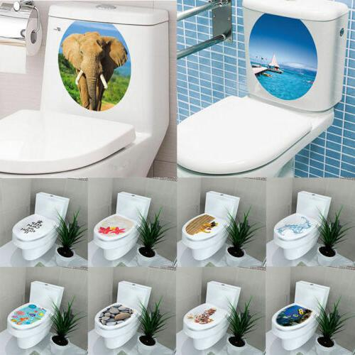 3D Toilet Wall Sticker Vinyl