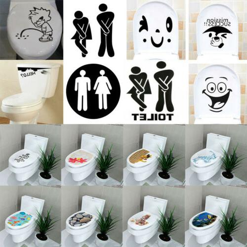 3d toilet seat wall sticker vinyl art