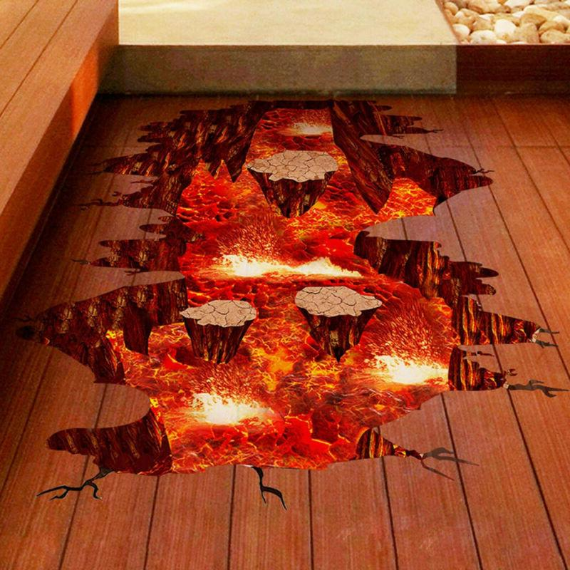 3D Floor/Wall Stickers Removable Bridge Mural Decals Vinyl A