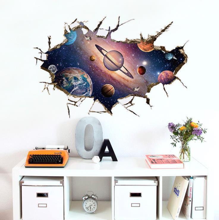 3D Wall Stickers Kids Decal Beach Removable