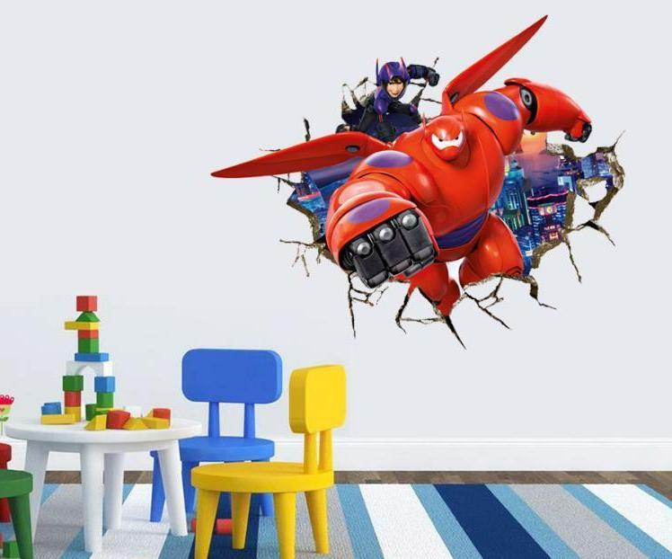 3D Kids Decal Beach Removable