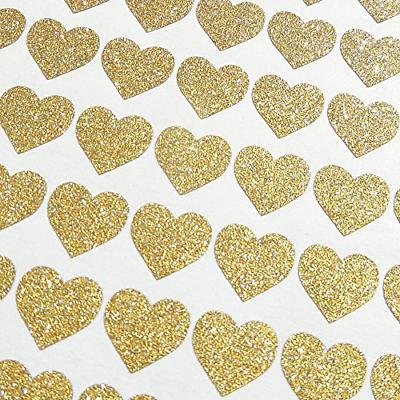 72 pcs removable sparkling gold heart wall