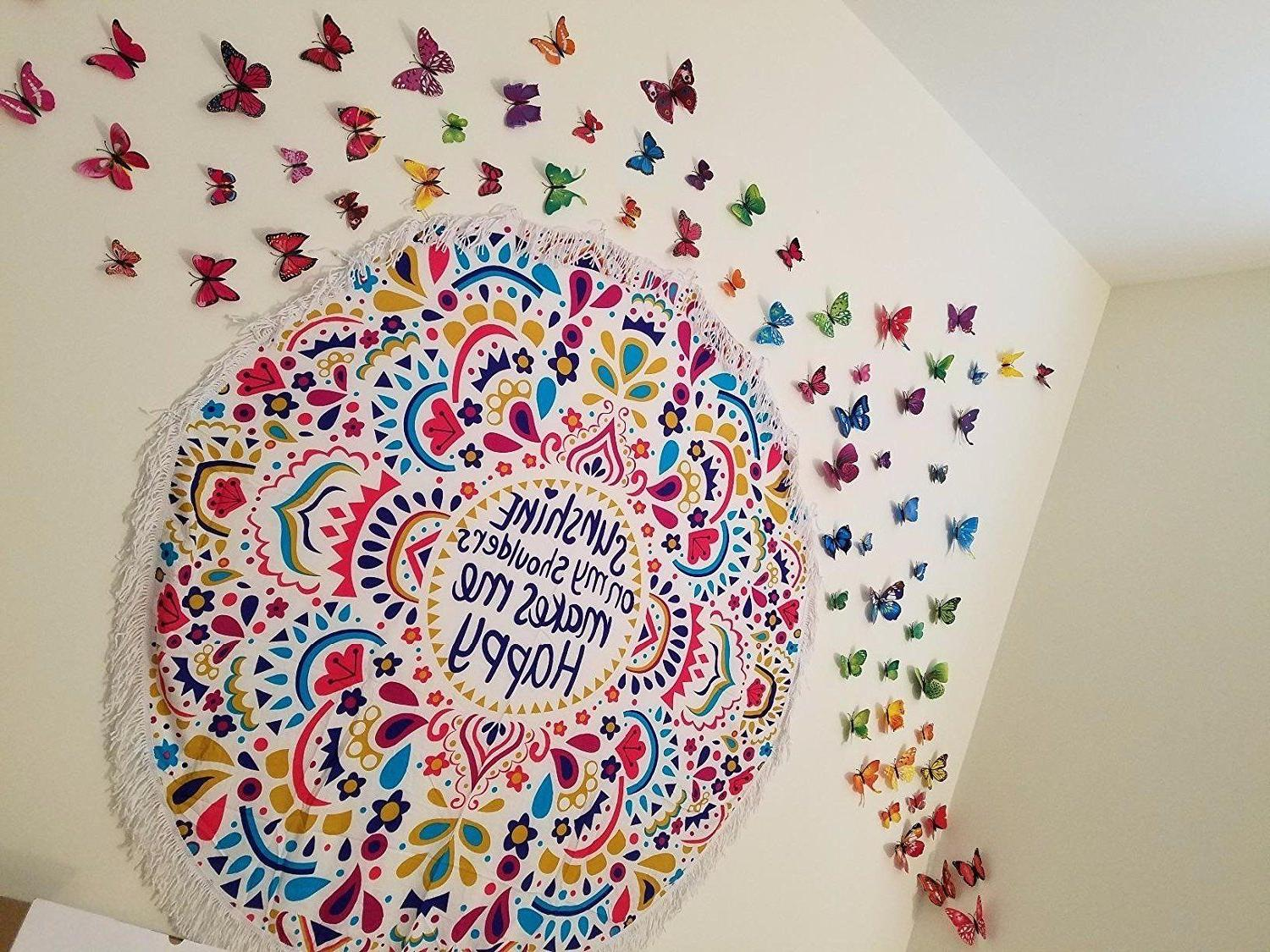 72pcs Butterfly Wall Stickers Kids Room Decor Removable