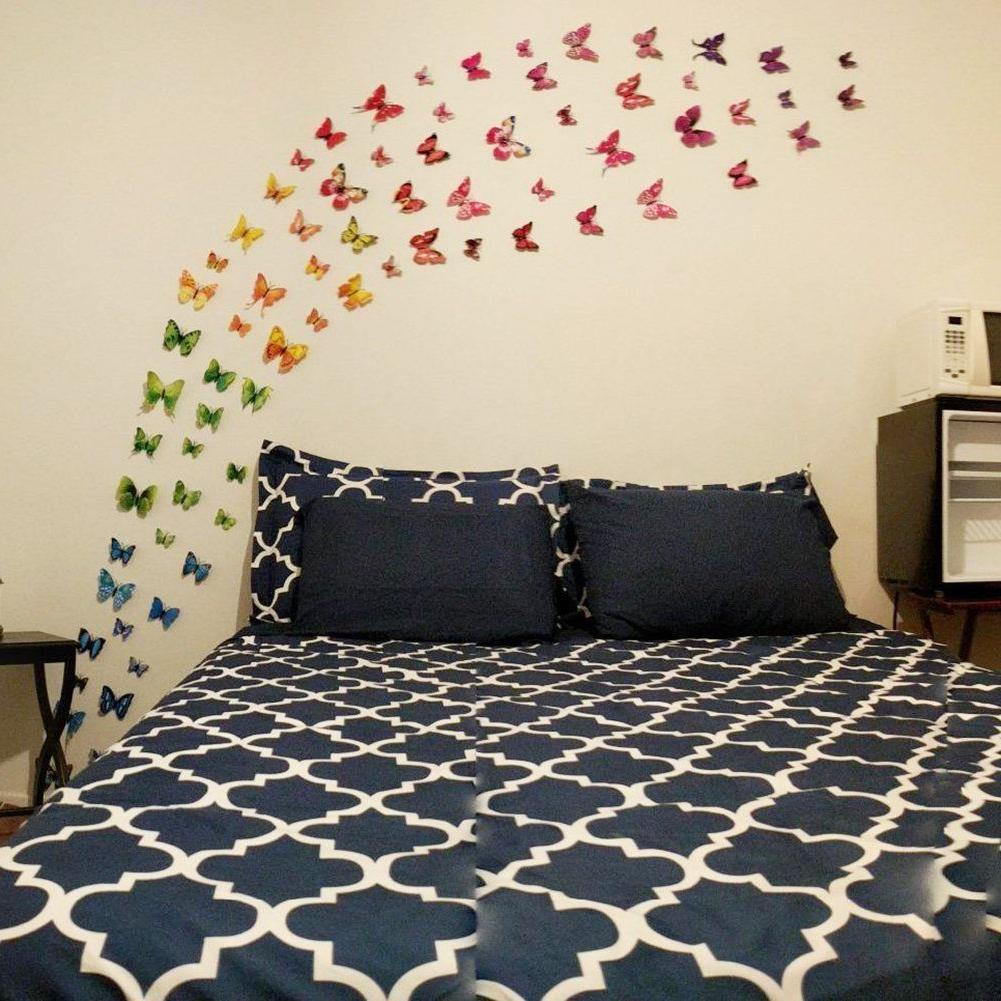 72pcs 3D Wall Stickers Kids Room Magnetic