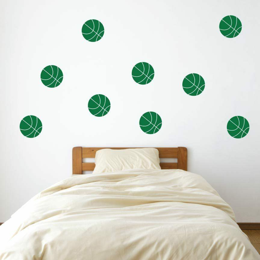 Basketball Vinyl Wall Decals - Color - Kid's Room