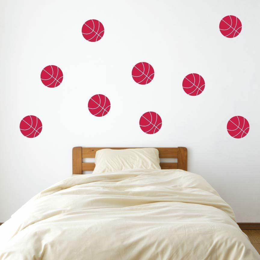 "4"" Basketball Wall Decals - Pick Color - Decal"