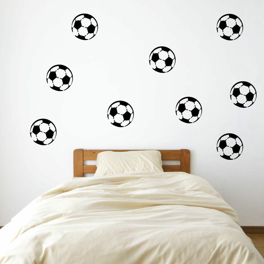 9 4 soccerball vinyl wall decals pick