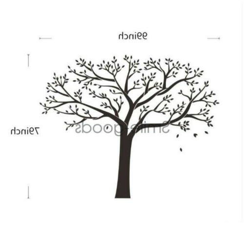 99''x79'' Black Tree Art Decals Mural