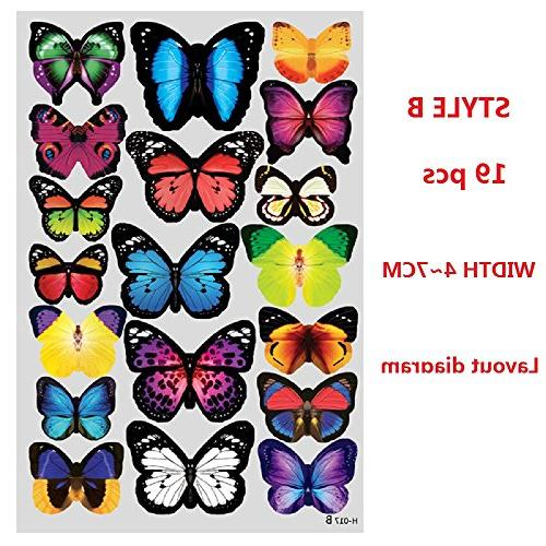 Amaonm® Pcs Removable Diy Pvc Butterfly Wall Decals Art Decor Nursery Classroom Offices Kids Bedroom Bathroom Room
