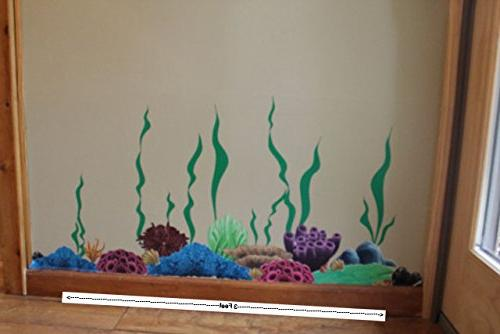 Create-A-Mural Coral Ocean Wall Stickers for Kids Room Wall Stickers