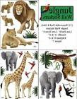 Create-A-Mural : Jungle Animal Wall Decals 23 Peel & Stick W