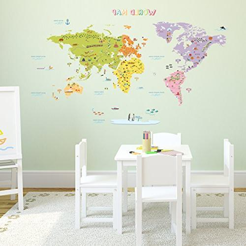 DECOWALL Map and Stick Wall Decal Stickers x