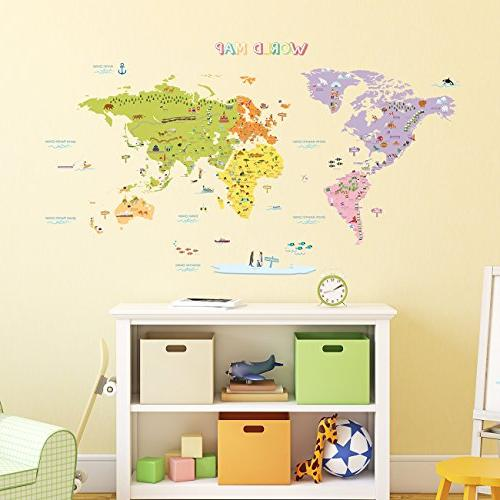 DECOWALL DMT-1306N Map and Wall Decal x