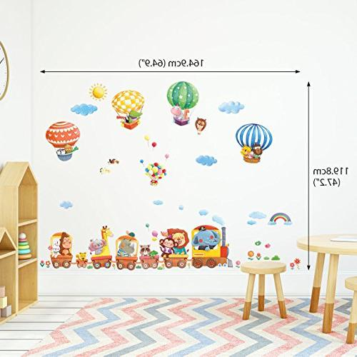 Decowall and Air Kids Wall Stickers and Stick Removable Wall Kids Room