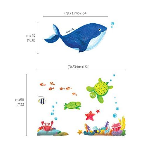 Decowall DW-1311 Sea Kids Wall Stickers Wall Stick Removable Wall Stickers for Living Room