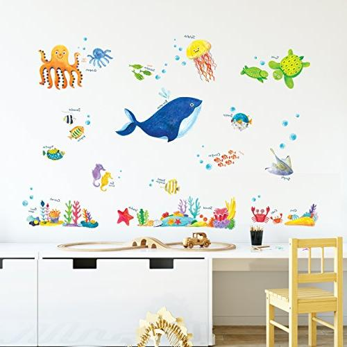 Decowall Sea Kids Wall Wall Stick Removable for Kids Living Room