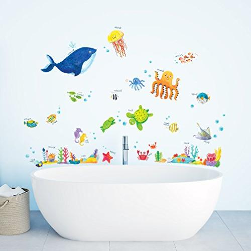Decowall DW-1311 Under Sea Wall Stick Removable for Kids Living