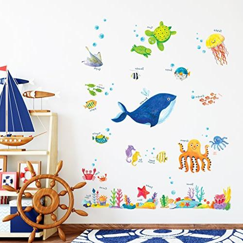 Decowall DW-1311 Under the Sea Kids Wall Stick Removable Wall Stickers for Living Room