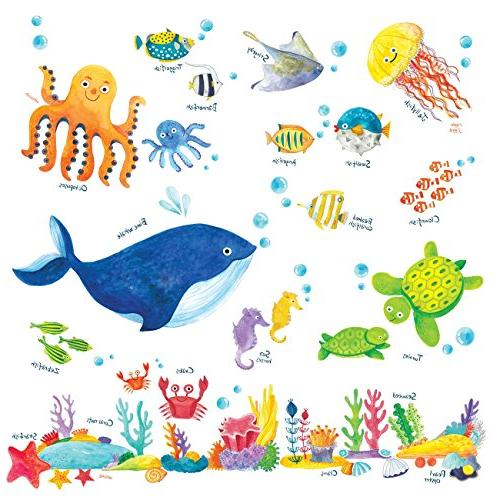 Decowall DW-1311 Under the Sea Kids Wall Stickers Wall Decal