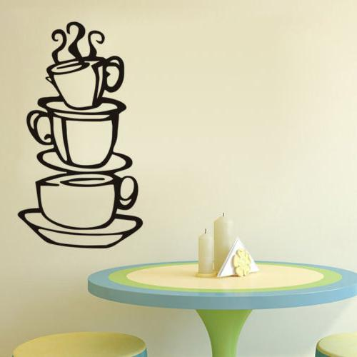 Kitchen House Cup Wall Stickers Mural Decor