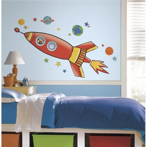 RoomMates Rocket Peel and Stick Giant Wall Decals